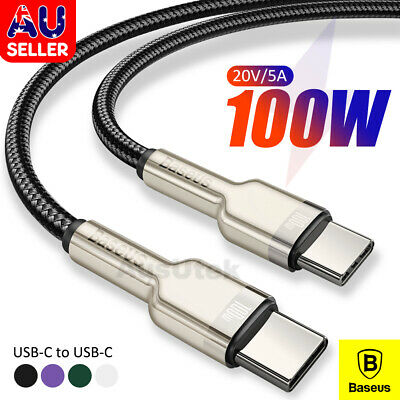 AU12.99 • Buy BASEUS PD Fast Charge Data USB-C To Type-C Cable For Apple Macbook Pro Air 100W