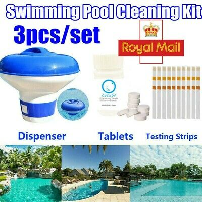 £10.82 • Buy Swimming Pool Chemical Dispenser Floating Chlorine+Cleaning Tablets Kit Hot Tub