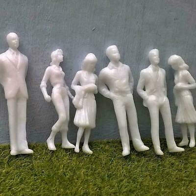 $5.78 • Buy 1:25/1:200DIY Scale Architecture White Model Figures People D0Y0