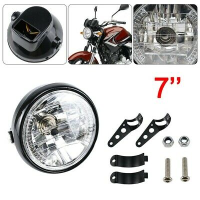 AU25.99 • Buy 7Inch Steel Round Motorcycle Headlight Lamp Housing Fit For Harley Dyna Racer