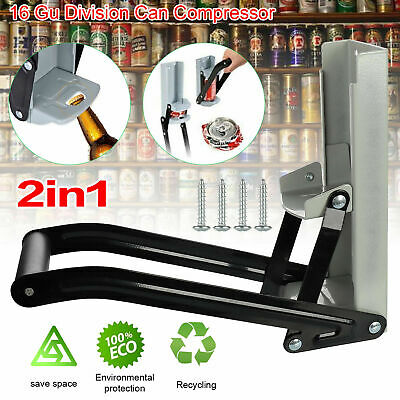 £8.99 • Buy 16OZ 500ml Tin Can Crusher Wall Mounted Large Beer Bottle Opener Recycling Tool