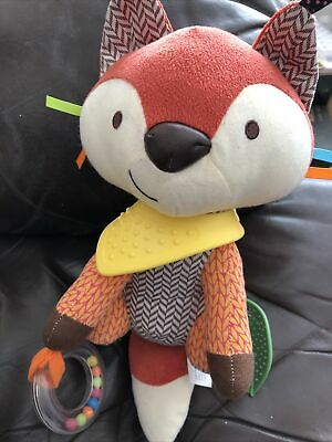 £5 • Buy SKK Baby Fox Activity Soft Toy VGC Rattle Comforter Teether Taggy Patterns G15