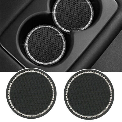 $4.84 • Buy 2 Pack 7cm Coasters Car Cup Holder Insert Accessories Universal Bling Rhinestone