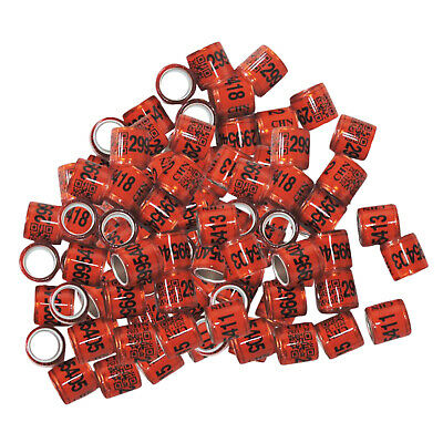 £4.99 • Buy 100pcs Identify Dove Rings Leg Rings Pigeon Bands For Canary Red