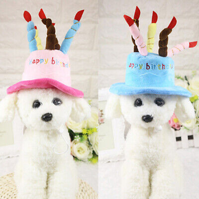 Cat Dog Pet Happy Birthday Candles Hat Cosplay Costume Dress Party Headwear MAK • 6.71£