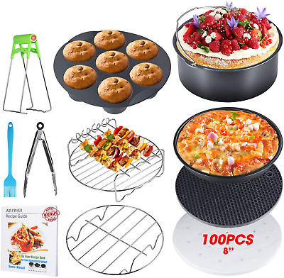 AU47.67 • Buy Air Fryer Accessories XL Universal With Recipe Cookbook Baking Pan Cooking Pot