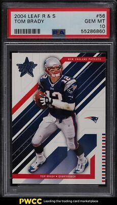 $9.99 • Buy 2004 Leaf Rookies & Stars Tom Brady #56 PSA 10 GEM MINT