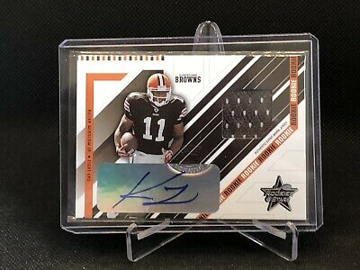 $12 • Buy 2004 LEAF ROOKIES & STARS JERSEY AUTO RC KELLEN WINSLOW JR. 27/50 Cleve Browns