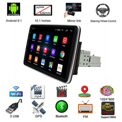 $ CDN231.28 • Buy 10.1in HD Touch Screen Car MP5 Player FM Stereo Radio 1DIN Quad Core 32G GPS 4G