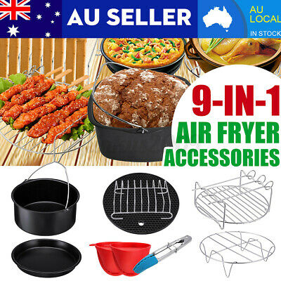 AU20.59 • Buy 112PC/Set Air Fryer Accessories 7  Rack Cake Pizza Oven Barbecue Frying Pan