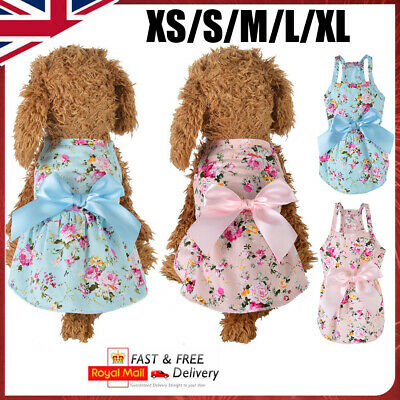 £5.89 • Buy Small Dog T-Shirt Vest Pet Puppy Cat Summer Clothes Coat Top Outfit Costume UK