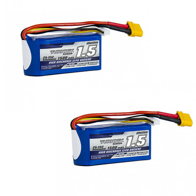 AU74.95 • Buy 2PCS Turnigy 1500mah 3s 25c Lipo Battery RC Plane Heli Drone Car XT 60 JST XH