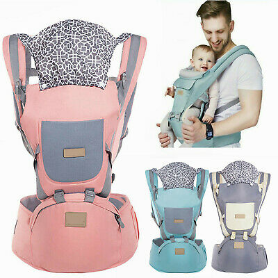 New Ergonomic Infant Baby Carrier With Hip Seat Adjustable Wrap Sling Backpack • 11.39£