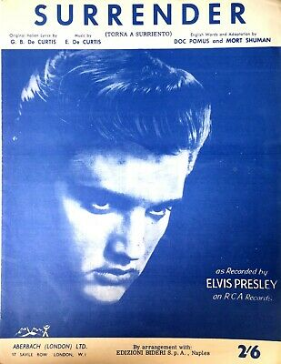 £14.99 • Buy Surrender By Elvis Presley Rare Original Now Out Of Print Sheet Music 1960