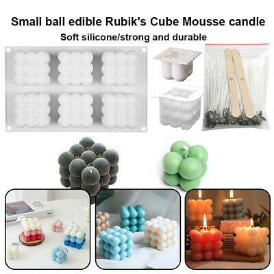£5.99 • Buy 3D Silicone Candle Moulds DIY Soap Aromatherapy Candles Wax Plaster Mold UK