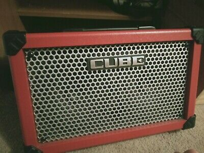 AU369 • Buy PRICE REDUCED - BARELY USED Roland Cube Street - Portable Amp + PA System In RED