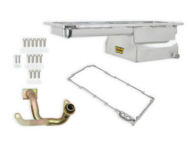 $302.99 • Buy Weiand 5048WND Fabricated Oil Pan Kit LS1/2/6 Front Sump Polished