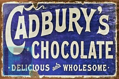£9.99 • Buy 11 X 8 Cadbury Chocolate Old Fashioned Metal Plate Sign Shed Wall Shed Garden