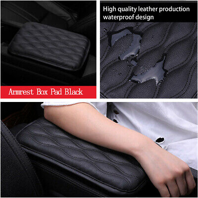 $9.89 • Buy Waterproof Car Armrest Pad Cover Center Console Box Leather Cushion Armrests Pad