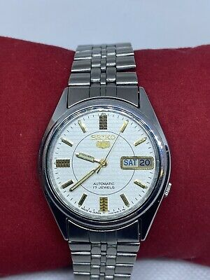 $ CDN53.54 • Buy Vintage Seiko 5 White Dial Automatic Watch (Good CONDITION) SERVICED