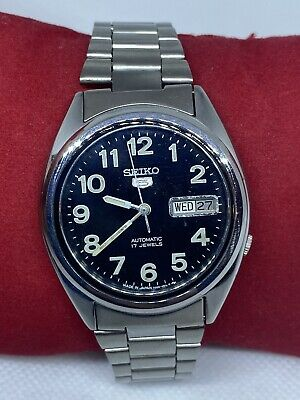 $ CDN44.91 • Buy Vintage Seiko 5 Black  Dial Automatic Watch (Good CONDITION) SERVICED