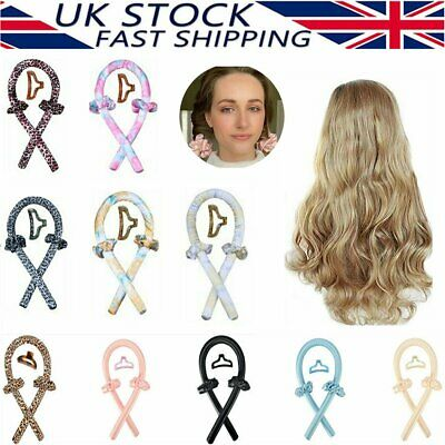 UK Women Silk Ribbon Hair Curlers Heatless Curling Rod Headband Wave Formers CB • 5.73£