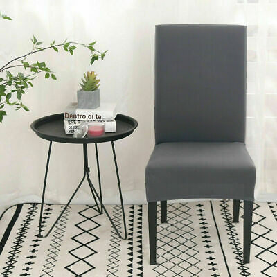 AU4.89 • Buy Stretch Dining Chair Cover Removable Slipcover Washable Banquet Event Dark Grey