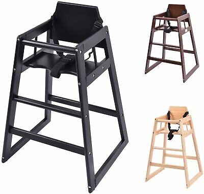 £46.95 • Buy Baby Highchair Wooden Stackable Kids Infant New Restaurant Cafe Pub Feed Chair