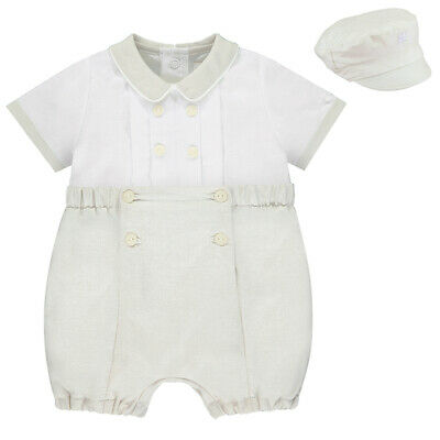 £32.99 • Buy Emile Et Rose Designer 5349 Sawyer Baby Boys Outfit With Cap Beige/Ivory RRP £44