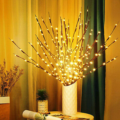 LED Romantic Twigs Bead Lights Up Warm White Branch Filler Willow Tree Twig Lamp • 11.95£