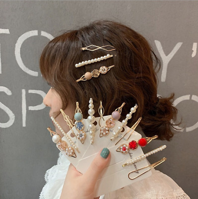 $ CDN3.47 • Buy 3pcs Children Women Gift Accessories Girls Clips Hairpins  Hair Clamps Pearl