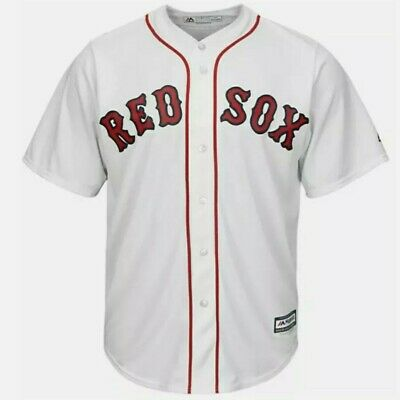 $39.99 • Buy NEW Boston Red Sox Mens 2XL XXL Jersey Majestic MLB Home White Cool Base Blank