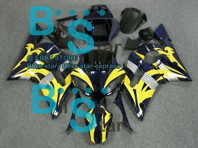 $291.13 • Buy Yellow Pattern INJECTION Fairing For Yamaha YZFR6 YZF-R6 1998-2002 48 B3