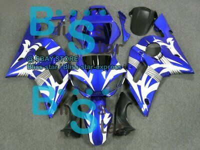 $316.45 • Buy White Pattern INJECTION Fairing For Yamaha YZFR6 YZF-R6 1998-2002 47 B3