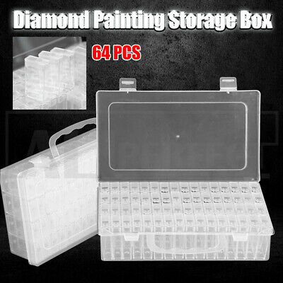 AU14.68 • Buy New 64 Grid Diamond Painting Storage Box Art Nail Bead Accessories Case Kit AU