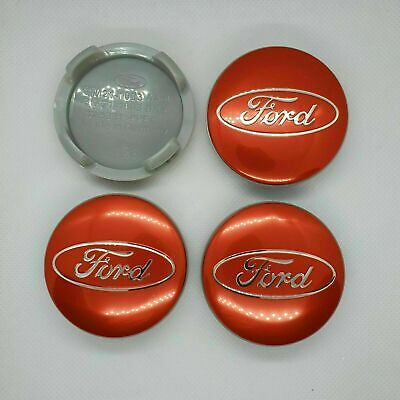 £7.39 • Buy 4 X Red Ford Alloy Wheel Centre Hub Caps 54mm Fits Most Models Focus Fiesta Kuga