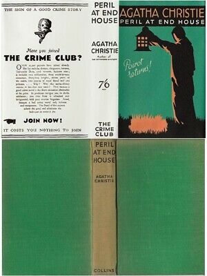 £110 • Buy Agatha Christie  PERIL AT END HOUSE  11th W/fdj 1940 Collins Mystery