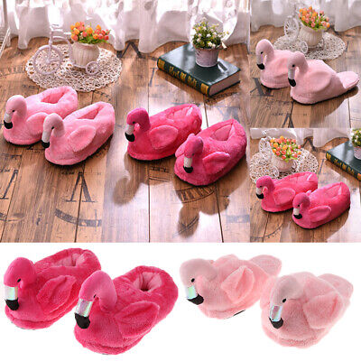 £7.73 • Buy Lovely 3D Flamingo Warm Slippers Fluffy Foot Warmer Cotton Plush Home Winter