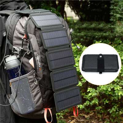 AU32.99 • Buy Portable Solar Mobile Phone Charger Panel Power Bank Waterproof Outdoor Camping