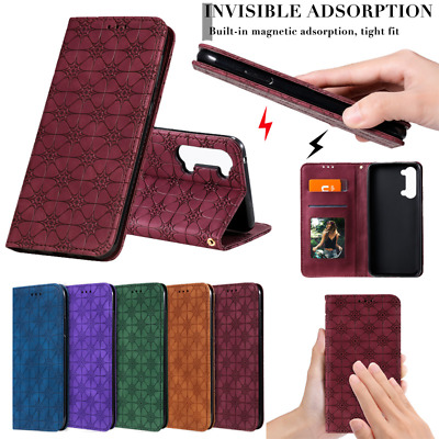 AU12.89 • Buy For Oppo Reno4 Pro 5G Find X2 Lite A52 Wallet Card Case Leather Flip Stand Cover