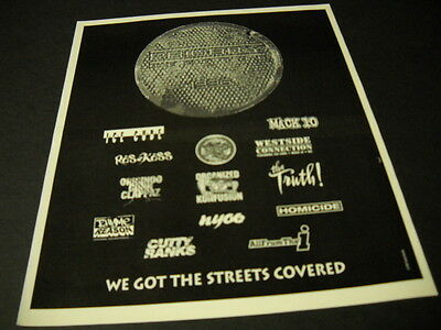 $9.95 • Buy PRIORITY 1996 Promo Poster Ad ICE CUBE Organized Confusion HOMICIDE Mack 10
