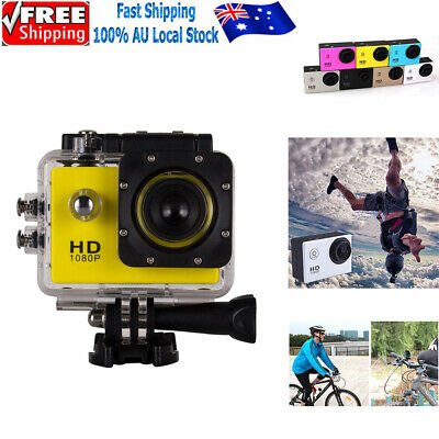 AU25.99 • Buy 1080P HD Waterproof Sports Cam Action Camera 12MP Video Camcorder Recorder GoPro