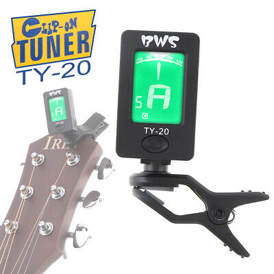 $ CDN7.15 • Buy Portable Clip-on Guitar Tuner Double Color Backlighting For Chromatic / Guitar