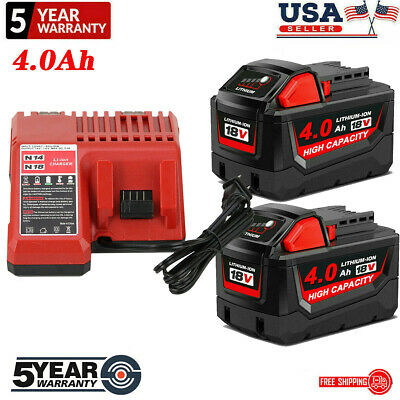 $66.01 • Buy For Milwaukee M18 18V  XC 5.0/6.0 AH Extended Lithium Battery 48-11-1890 Charger