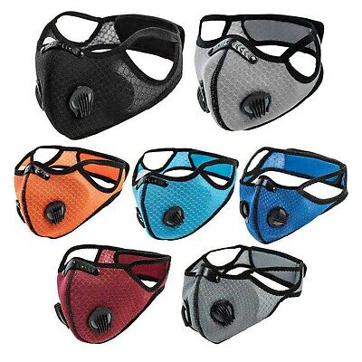 £2.99 • Buy Reusable Washable Anti Pollution Face Mask PM2.5 Two Air Vent With Filter UK