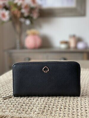 $ CDN100.37 • Buy NWT Kate Spade New York Adel Large Leather Continental Wallet In Black