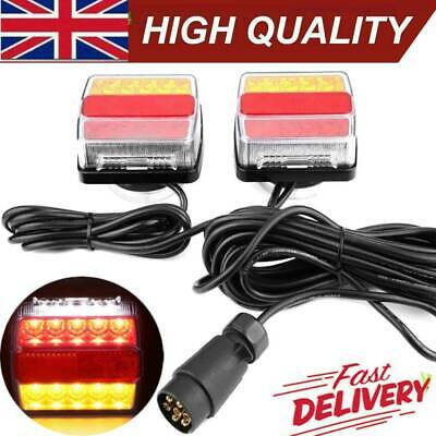 £26.47 • Buy 12V Magnetic LED Trailer Towing Lights Rear Tail Board Lamps Stop Car 10M Cable