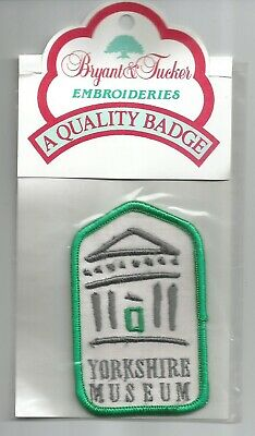 £2.69 • Buy Yorkshire Museum Embroidered Iron/sew On Patch 5.3x8.5cm