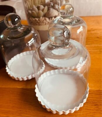 £6.99 • Buy Glass CupCake Stand And Dome, Cake & Cupcake Carrier Container 10 X 12cm