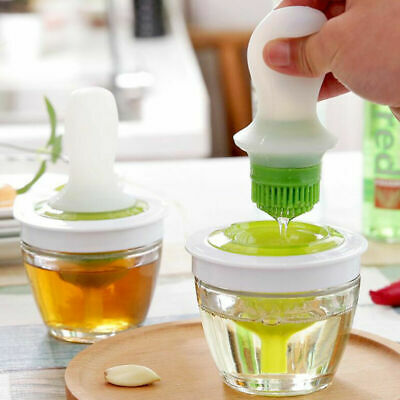 £11.99 • Buy Basting Brush Silicone Oil Bottle With Brush Cooking Baking BBQ Pastry Oil Brush